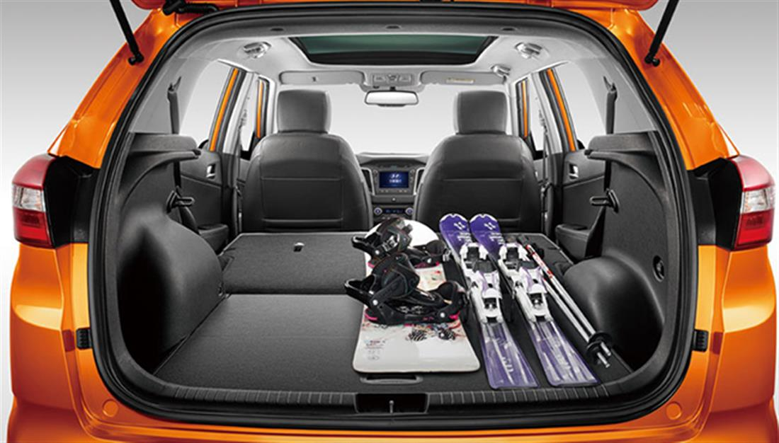 вместительный багажник у Hyundai Creta