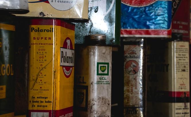 железная банка масла