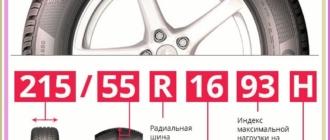 Информация о шинах