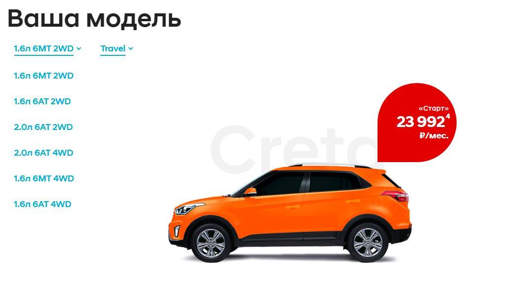 Модели Hyundai Creta