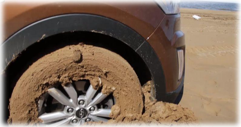 Колесо в грязи