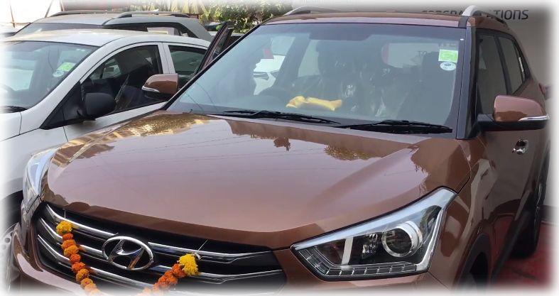 Коричневая Hyundai Creta