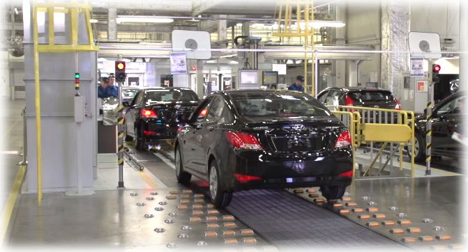 Автомобили на заводе