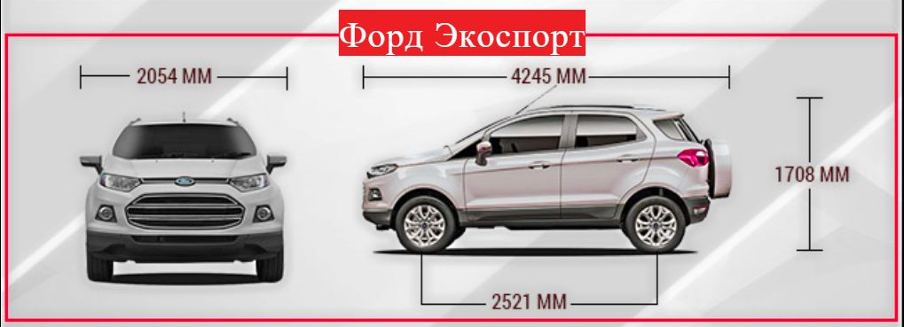 Форд Экоспорт габариты